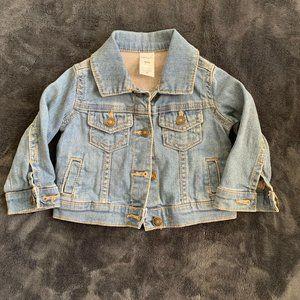 Carter's Denim Jacket Lightwash Blue Size 9 mo